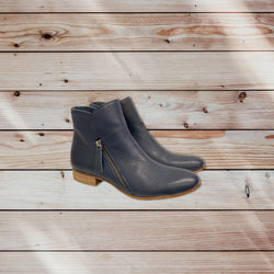 Django and Juliette Fumiko Navy Boot - Total Woman Total Home