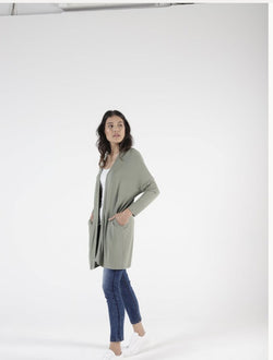 Betty Basics Como Cardigan Avocado