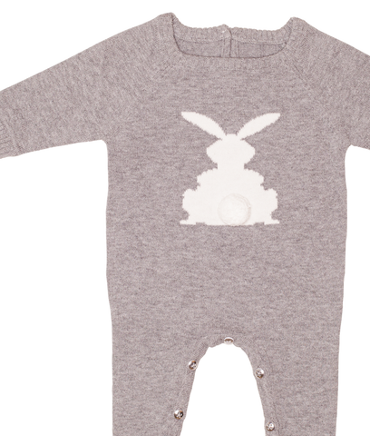 Gingerlilly Knit Romper Grey Bunny - Total Woman Total Home