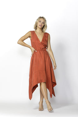 Fate + Becker Vivienne Dress Burnt Orange - Total Woman Total Home