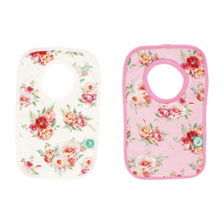 All4Ella Pullover Head Bib 2 Pack Floral