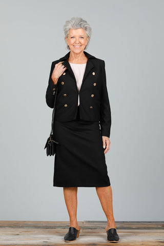 Brave + True 5th Avenue Skirt Black - Total Woman Total Home