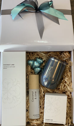 Aromabotanical Coconut Lime and Travino Charcoal Glitter Gift Box - Total Woman Total Home