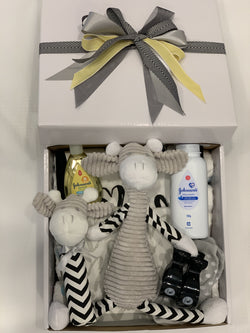 Baby Giraffe Toy Gift Box Black