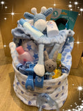 Baby Nappy Cake Large Blue - Total Woman Total Home