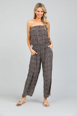 Holiday Bora Bora Strapless Pantsuit Coco Seaside Print