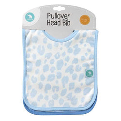All4Ella Pullover Head Bib 2 Pack Blue Leopard