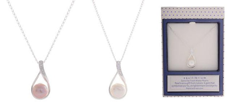 Equilibrium Freshwater Pearl Necklace - Total Woman Total Home