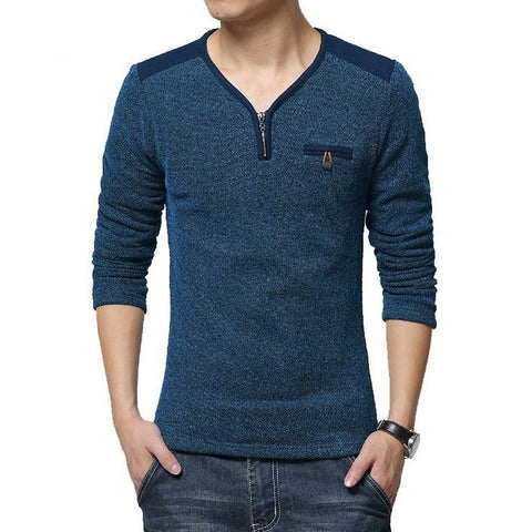 Iconic Men's Front Pocket Henley