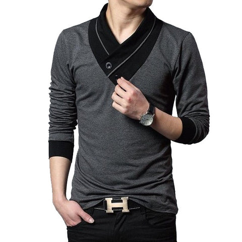 Men's Contemporary Long Sleeved Henley
