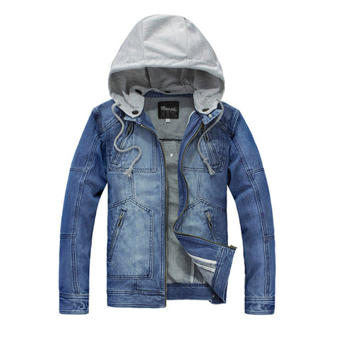 Classic Men's Denim Hoodie Jacket