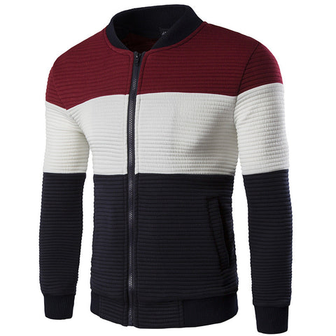 Exclusive Axis Striped Men's Casual Jacket