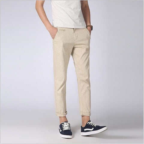 Urban Men Slim-Fit Summer Pants