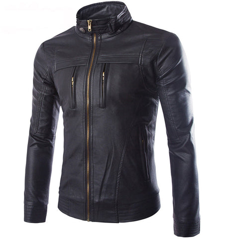 Keane Men's Leather Biker Jacket