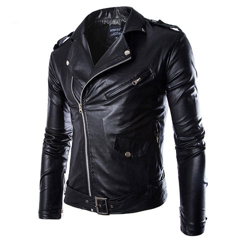 Reserve Men's Leather Biker Jacket