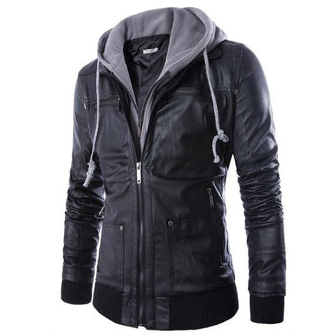 Octane Hooded Leather Jacket