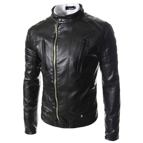 Reclaimed Men's Leather Biker Jacket
