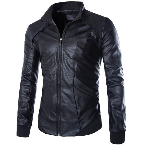 Rowley Men's Leather Biker Jacket