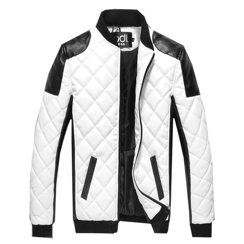 Exclusive Quilted Men's Faux Leather Jacket