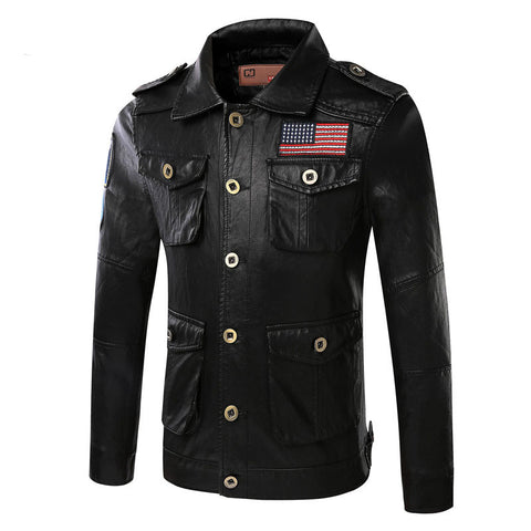 All American Biker Leather Jacket