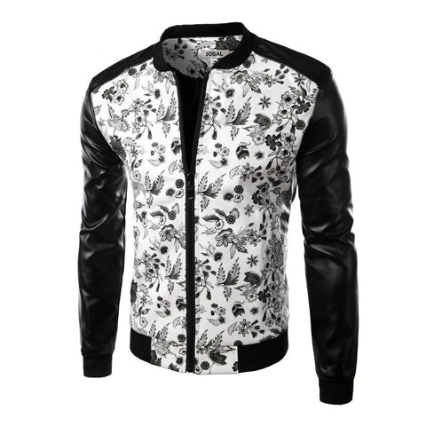 Iconic Floral Print Men's Jacket
