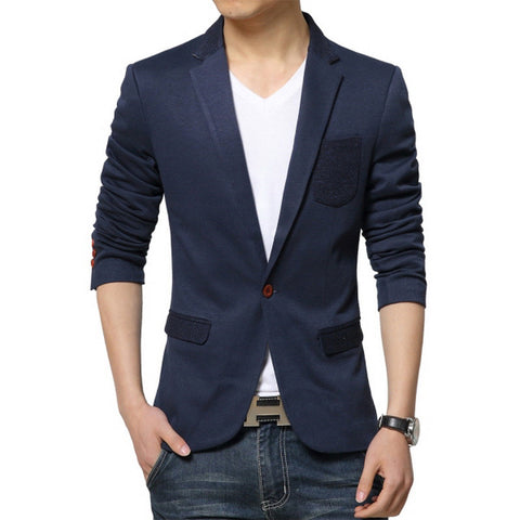 Iconic Men's Patched Pocket Blazer