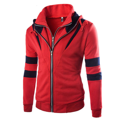 Iconic Striped Double-Zipper Men's Jacket