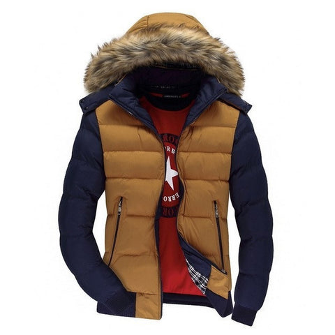 Men's Faux-Fur Hooded Parka