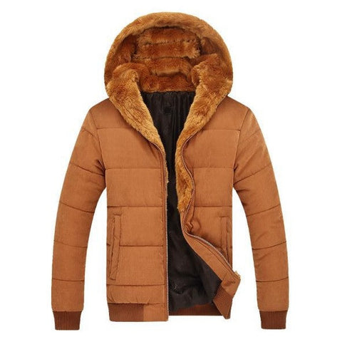 Iconic Men's Faux-Fur Hooded Jacket