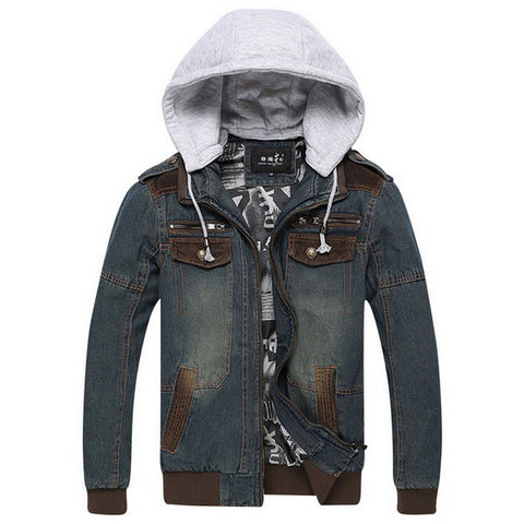 Exclusive Men's Denim Hooded Jacket