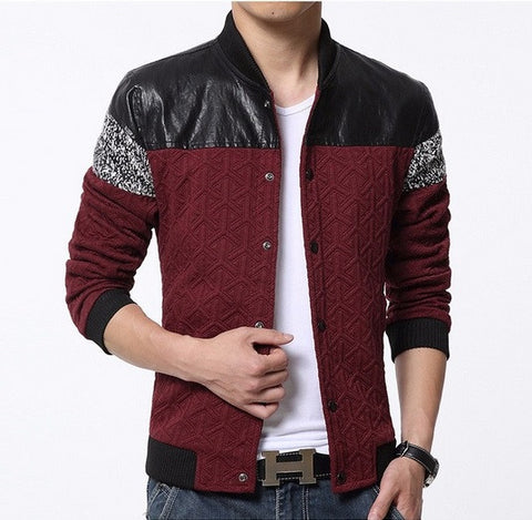 Classic Men's Patchwork Jacket