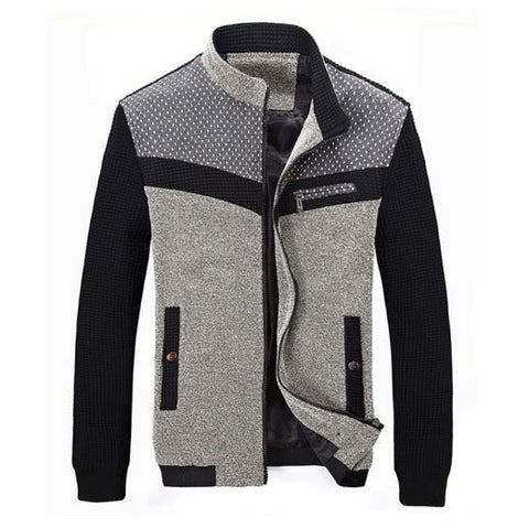 Iconic Men's Two-Tone Patchwork Jacket