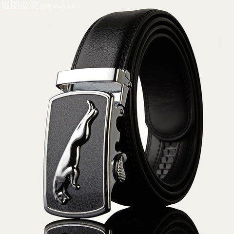 Men's Jaguar Leather Belt