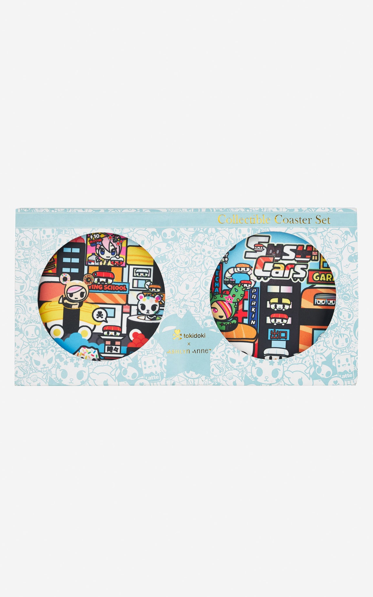 TDxAN Sushi Town Ceramic Coaster Set - A.Anne, Tokidoki, Ashlyn Anne, Fashion, Handbags, School, Bag, Accessories