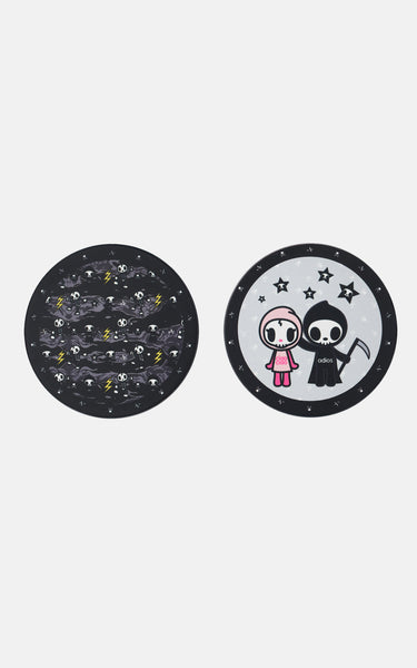 TDxAN Monochrome Ceramic Coaster Set - A.Anne, Tokidoki, Ashlyn Anne, Fashion, Handbags, School, Bag, Accessories