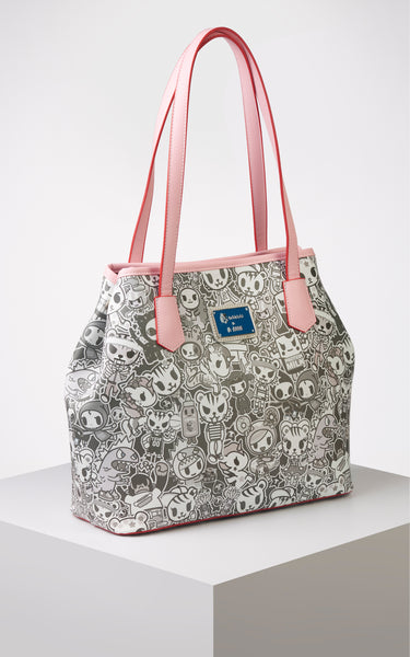 TDxAN Monochrome No. 1 Convertible Tote Bag (Pink) - A.Anne, Tokidoki, Ashlyn Anne, Fashion, Handbags, School, Bag, Accessories