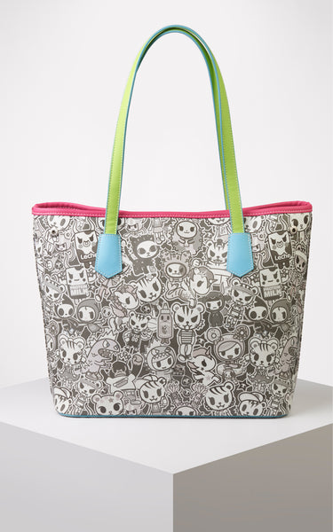 TDxAN Monochrome No. 1 Convertible Tote Bag (Neon) - A.Anne, Tokidoki, Ashlyn Anne, Fashion, Handbags, School, Bag, Accessories