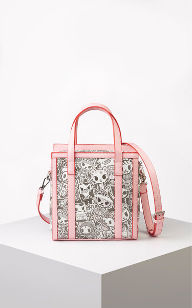TDxAN Monochrome No. 1 Handbag (Pink) - A.Anne, Tokidoki, Ashlyn Anne, Fashion, Handbags, School, Bag, Accessories