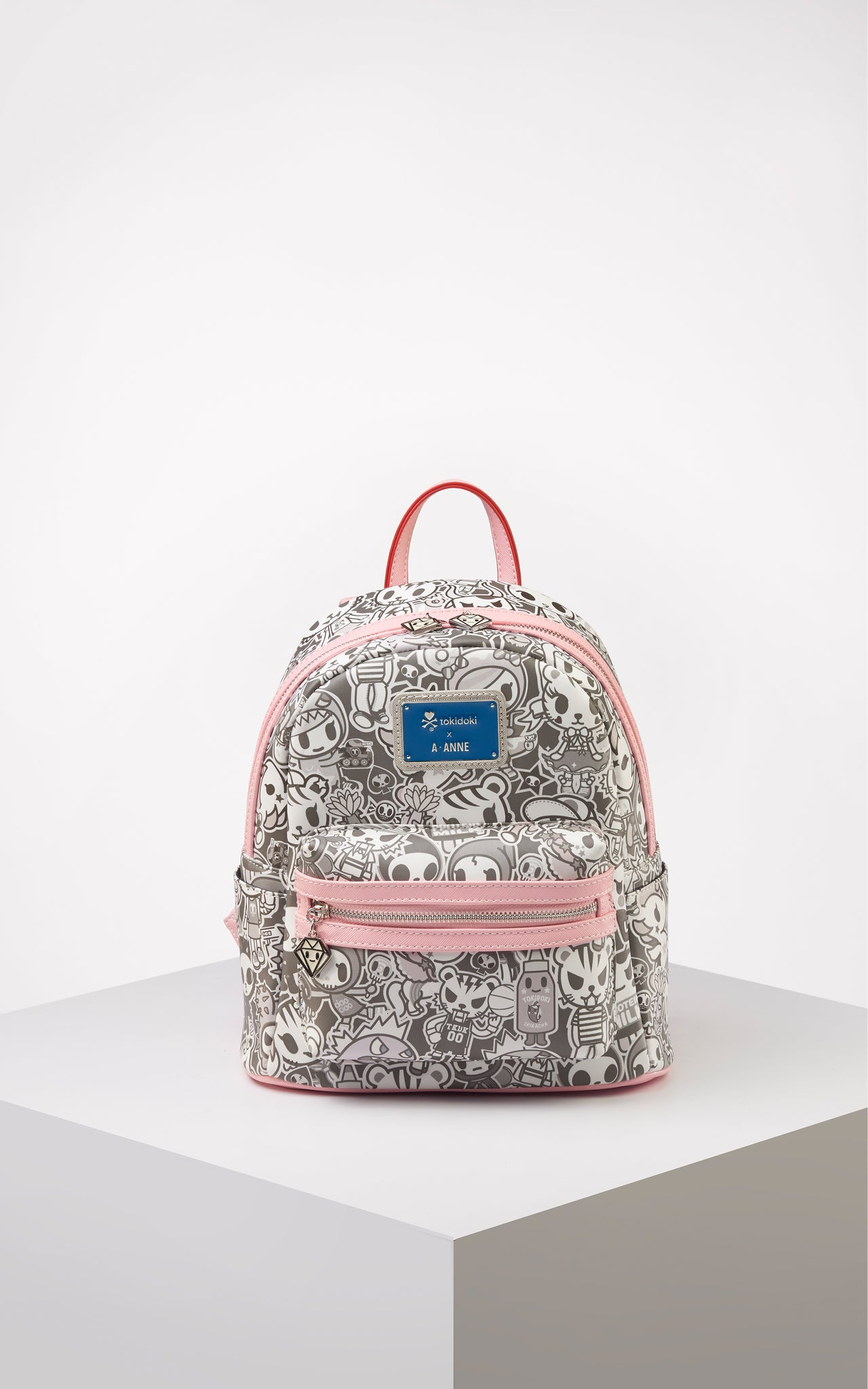 TDxAN Monochrome No. 1 Backpack (Pink) - A.Anne, Tokidoki, Ashlyn Anne, Fashion, Handbags, School, Bag, Accessories