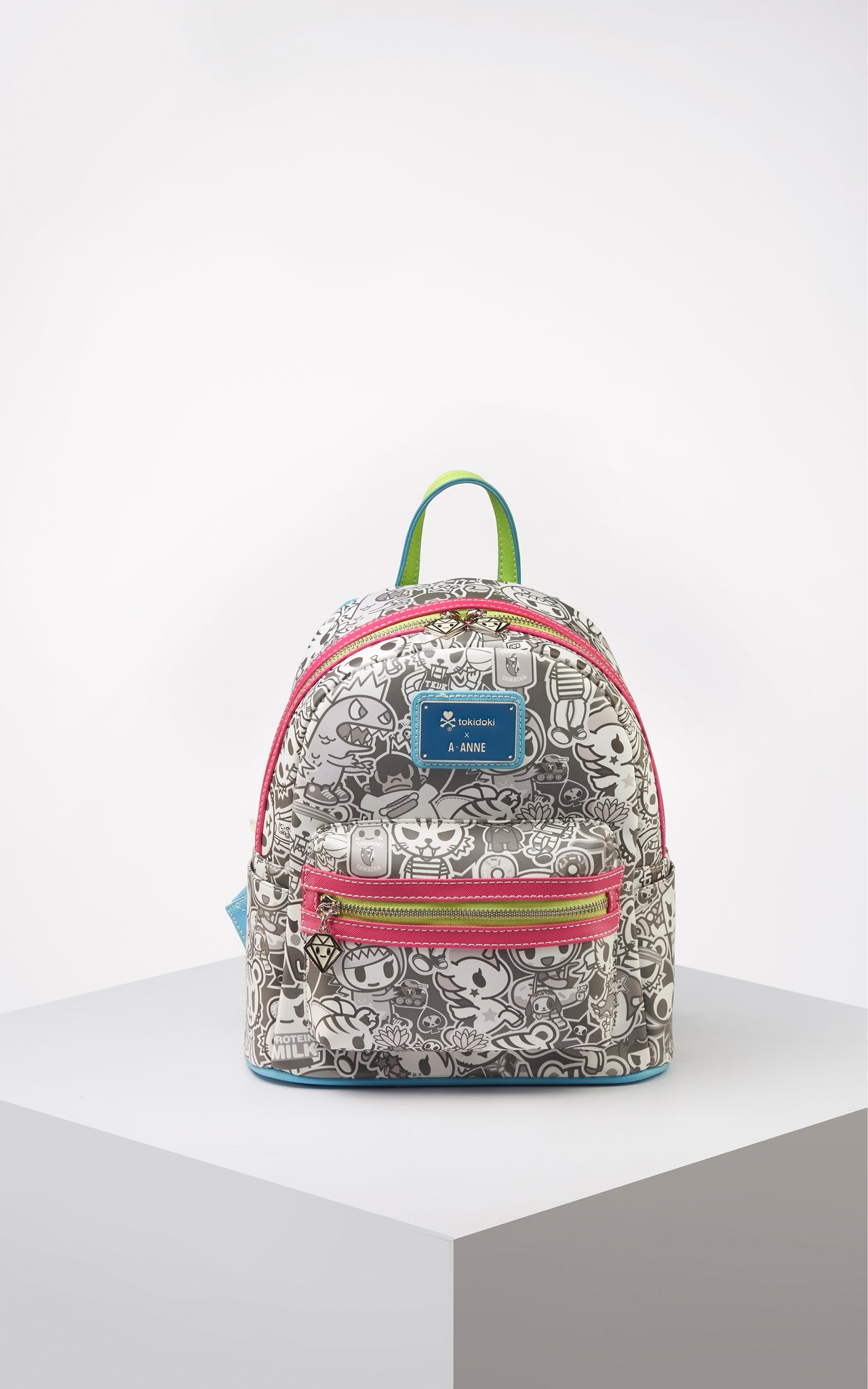 TDxAN Monochrome No. 1 Backpack (Neon) - A.Anne, Tokidoki, Ashlyn Anne, Fashion, Handbags, School, Bag, Accessories