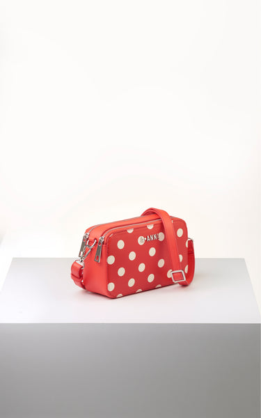 Off-White & Red Polka Dot Crossbody - A.Anne, Tokidoki, Ashlyn Anne, Fashion, Handbags, School, Bag, Accessories