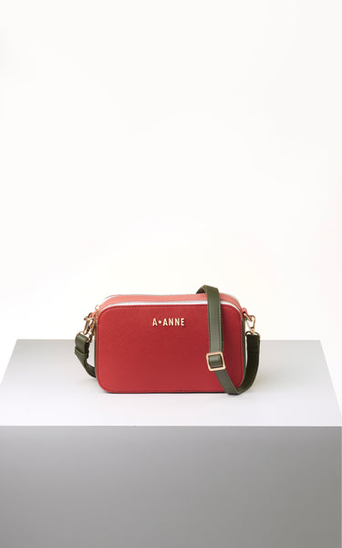 Crimson Red Colourblock Crossbody - A.Anne, Tokidoki, Ashlyn Anne, Fashion, Handbags, School, Bag, Accessories