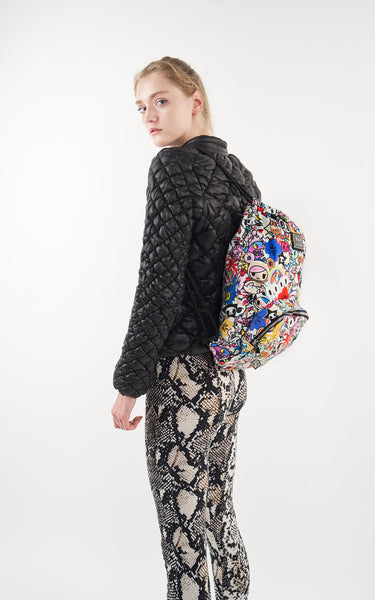 TDxAN Pop Garden Drawstring Backpack - A.Anne, Tokidoki, Ashlyn Anne, Fashion, Handbags, School, Bag, Accessories