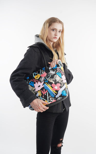 Graffiti Bloom Tote Bag - A.Anne, Tokidoki, Ashlyn Anne, Fashion, Handbags, School, Bag, Accessories