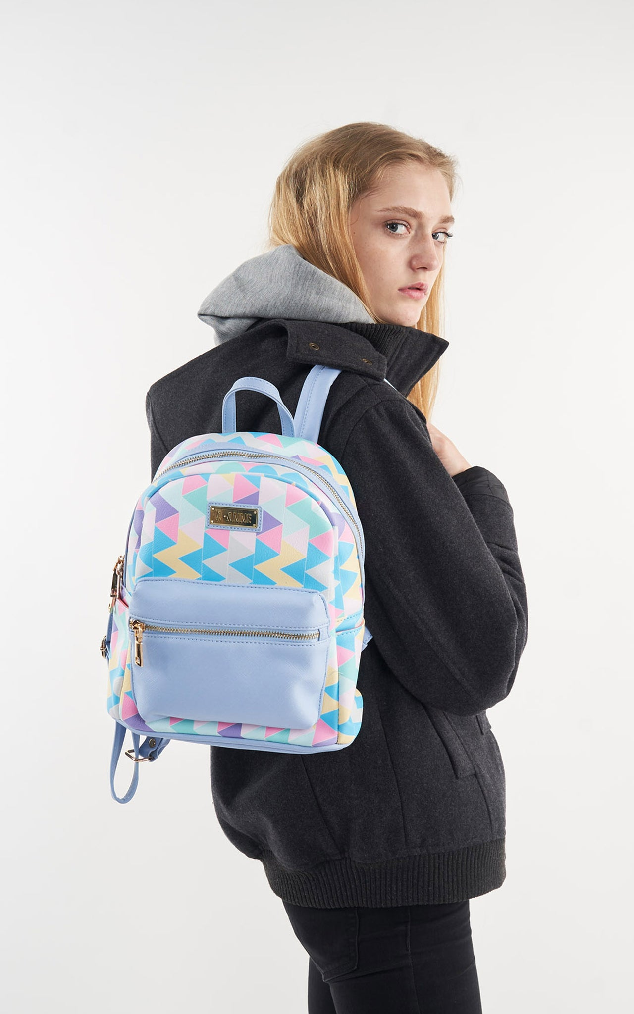 Carolina Blue Petite Backpack - A.Anne, Tokidoki, Ashlyn Anne, Fashion, Handbags, School, Bag, Accessories