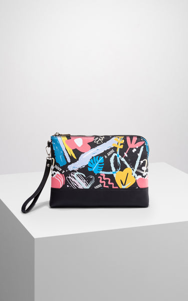 Graffiti Bloom Petite Clutch - A.Anne, Tokidoki, Ashlyn Anne, Fashion, Handbags, School, Bag, Accessories