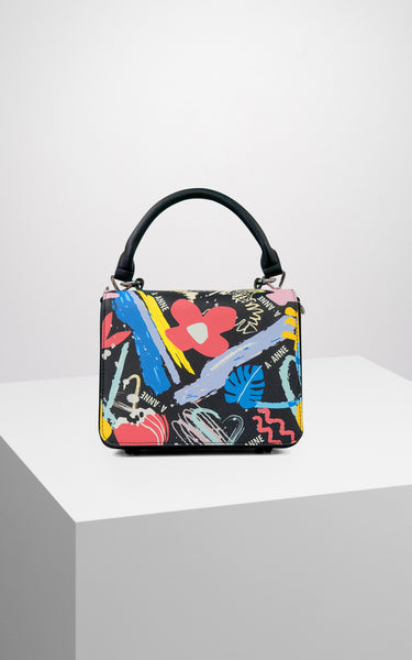 Graffiti Bloom Structured Handbag - A.Anne, Tokidoki, Ashlyn Anne, Fashion, Handbags, School, Bag, Accessories