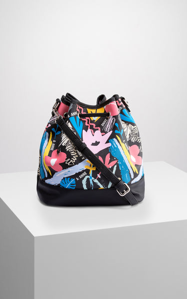 Graffiti Bloom Bucket Bag - A.Anne, Tokidoki, Ashlyn Anne, Fashion, Handbags, School, Bag, Accessories