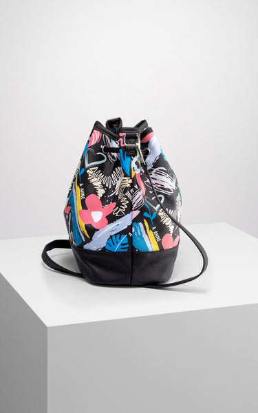 Graffiti Bloom Bucket Bag