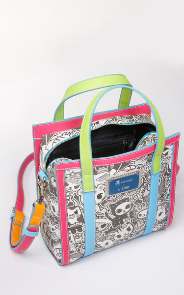 TDxAN Monochrome No. 1 Handbag (Neon) - A.Anne, Tokidoki, Ashlyn Anne, Fashion, Handbags, School, Bag, Accessories